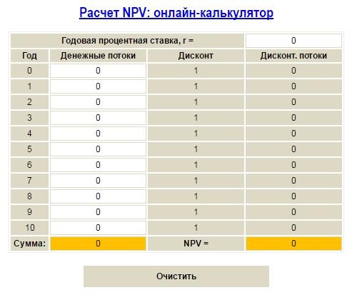 расчет npv онлайн калькулятор, рассчитать npv онлайн, расчет npv онлайн, калькулятор npv, калькулятор npv онлайн